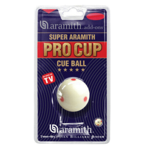 "TRAINING BALL - ARAMITH - 6 SPOT PRO CUE BALL - 1 7/8"", 2"", 2 1/16"" & 2 1/4"""