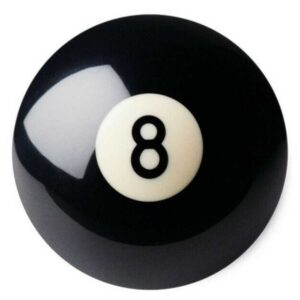 SPARE BALL - ARAMITH - No. 8 BALL - VARIOUS SIZES