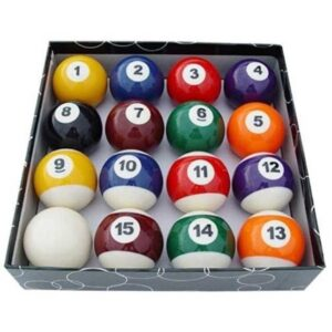 "BALL SET - KELLY POOL - 1 1/2"" (FREE TRIANGLE)"
