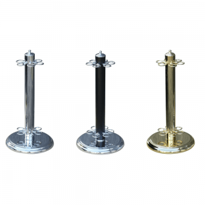 CUE STAND - METAL - ROUND