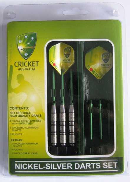 Cricket Australia Nickel Silver Dart Board Dart Set Birthday Gift