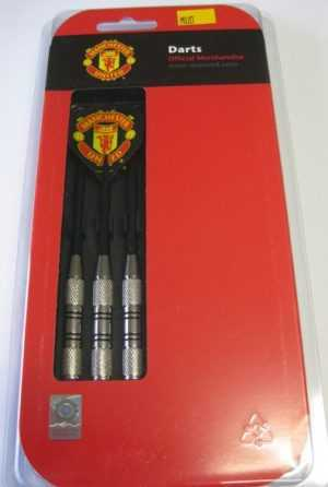 NICKEL SILVER PLATED MANCHESTER UNITED F.C DART SET - 20gm