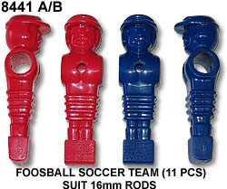 FOOSBALL SOCCER TEAM (11 PCS) SUIT 16mm RODS