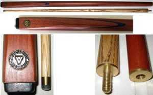 "2 PIECE ASH CUE - CUE SHARK - 54"" 9mm TIP"