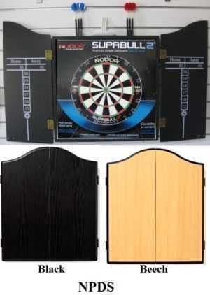 DARTBOARD AND CABINET SET - NODOR PROFESSIONAL - BLACK OR BEECH
