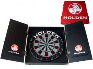 HOLDEN DARTBOARD CABINET WITH DARTBOARD AND DARTS