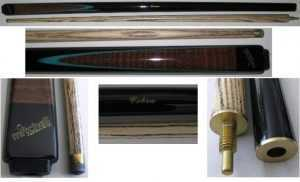 "2 PIECE ASH CUE - MITCHELL COBRA DELUXE - 57"" 9.5mm TIP"