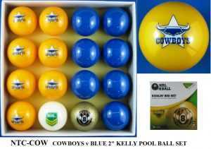 "2"" ARAMITH KELLY POOL BALL SET - COWBOYS v BLUE"