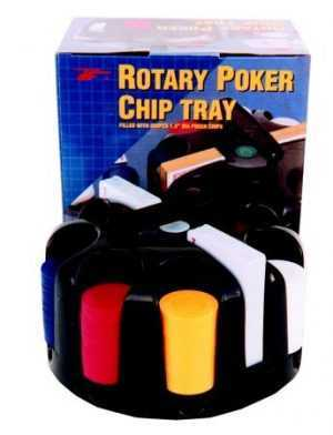 200 PIECE PLASTIC CHIPS IN REVOLVING RACK