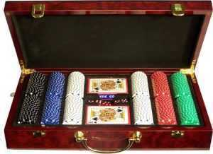 300 PIECE LAS VEGAS COLLECTION POKER SET WITH ATTACHED CASE