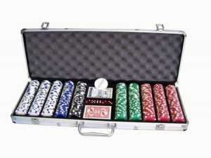 500 PIECE POKER CHIPS WITH ALUMINIUM CASE