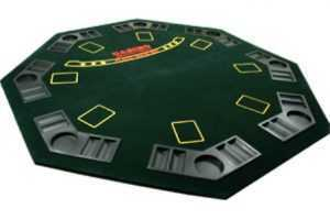 POKER TABLE TOP - FOLDS WITH CARRY CASE