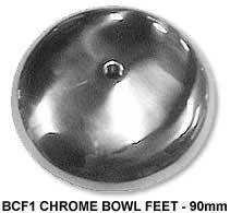 TABLE FEET - BOWL CHROME - 90mm