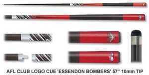 2pc OFFICIAL AFL CLUB LOGO CUE - Essendon Bombers