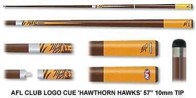 2pc OFFICIAL AFL CLUB LOGO CUE - Hawthorn Hawks