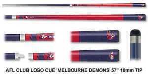2pc OFFICIAL AFL CLUB LOGO CUE - Melbourne Demons