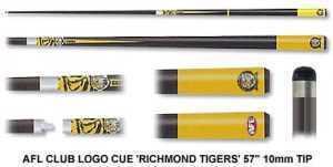 2pc OFFICIAL AFL CLUB LOGO CUE - Richmond Tigers