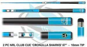 2pc OFFICIAL NRL CLUB LOGO CUE - Cronulla Sharks