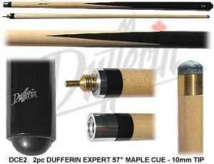"2 PIECE MAPLE CUE DUFFERIN CANADIAN EXPERT 57"" 10mm TIP"