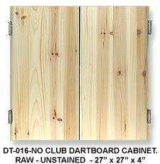 DARTBOARD CABINET CLUB - RAW