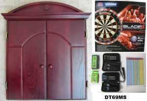 DARTBOARD AND CABINET SET- ULTIMATE CABINET & DARTBOARD SET - MAHOGANY, RAW OR BROWN