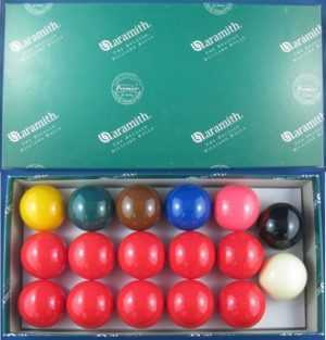 SNOOKER BALL SET - ARAMITH - 2""
