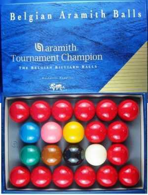 SNOOKER BALL SET - ARAMITH TOURNAMENT CHAMPIONSHIP SET - 2 1/16""