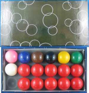"""SNOOKER BALL SET - 1 7/8"""""""