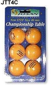 JOSAN 40mm CHAMPIONSHIP T/T BALLS