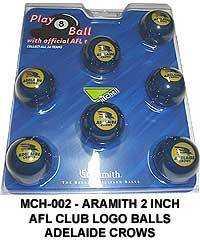 "2"" ARAMITH AFL CLUB LOGO BALL SETS - Adelaide Crows"
