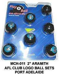 "2"" ARAMITH AFL CLUB LOGO BALL SETS - Port Adelaide Power"