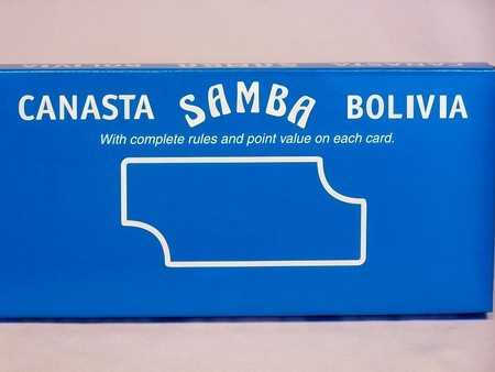 CANASTA, SAMBA, BOLIVIA PLAYING CARDS - TRIPLE PACK