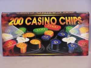 200 PIECE PLASTIC POKER CHIPS NUMBERED
