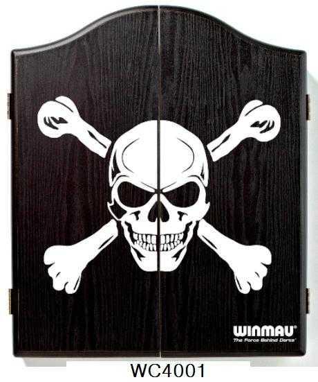 DARTBOARD CABINET WINMAU - SKULL
